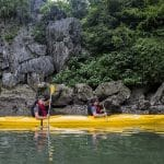 Kayaking is banned in Halong Bay