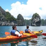 Kayaking guide on Halong Bay